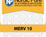 Nordic Pure 20x24x4 MERV 10 AC Furnace Filters Qty 1