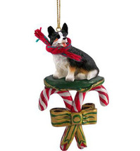 WELSH CORGI CARDIGAN DOG CANDY CANE CHRISTMAS ORNAMENT HOLIDAY XMAS  - $14.95