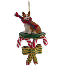 WELSH CORGI PEMBROKE DOG CANDY CANE CHRISTMAS ORNAMENT HOLIDAY XMAS  - $14.95