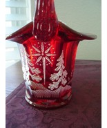 Fenton Star Bright on Ruby Basket 2002 - $65.00