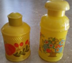 Vintage Hippie Yellow Avon Perfume & Lotion Bottles Lot 1960's Rare - $24.99