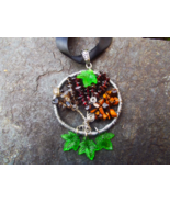 Tree Of Life Wire Wrapped Pendant With Garnet, ... - $35.00