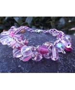 Shades Of Pink Whimsical Charm Bracelet - $20.00