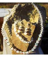 Crystal Bicone And Rhinestone Three Piece Jewelry Set - $25.00