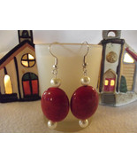 Hard Candy Christmas Beaded Dangle Earrings - $8.00