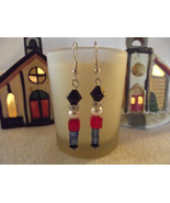 Toy Soldier Dangle Earrings Made With Swarovski Elements - $13.00