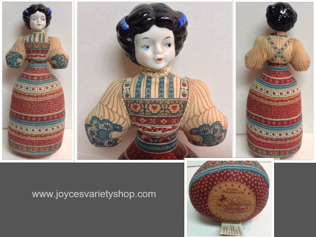 Avon cloth doll 1981 collage
