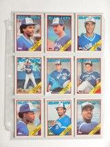 Gruber,McGriff,Fielder,Etc. (Toronto Blue Jays) (9) 1988 Baseball Cards - $5.29