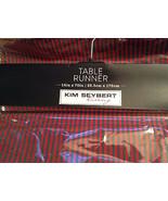 KIM SEYBERT RED GREEN STRIPE HOLIDAY CHRISTMAS 100% COTTON TABLE RUNNER NWT - $33.00