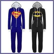 Classic Super Hero Hooded Front Zip Up PJ's or Lounger Bodysuit - $68.95