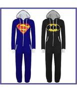 Classic Super Hero Hooded Front Zip Up PJ's or Lounger Bodysuit - $68.95