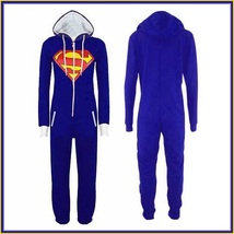 Classic Super Hero Hooded Front Zip Up PJ's or Lounger Bodysuit image 2