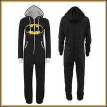 Classic Super Hero Hooded Front Zip Up PJ's or Lounger Bodysuit image 3