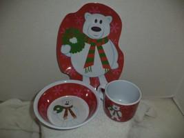 Polar Bear Three Piece Melamine Childrens Dinne... - $9.99