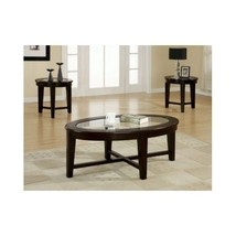 Living Room Table Set Furniture Contemporary Home Decor Round Edges Warm... - $445.00