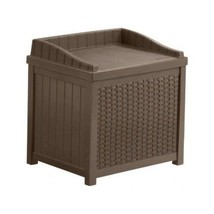Storage Seat Patio Outdoor Bench Garden Wicker  Deck Box Pool Indoor Out... - $68.79