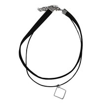 Square Pendant Neck Strap The Fashion Necklace image 1