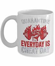 PixiDoodle Foodie Fitness Coach Pandemic Gift Coffee Mug (11 oz, White) - $18.99