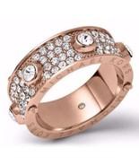 Michael Kors MKJ3275 Rose Gold Tone Astor Stud Crystal Pave Ring Size 7 ... - $84.75
