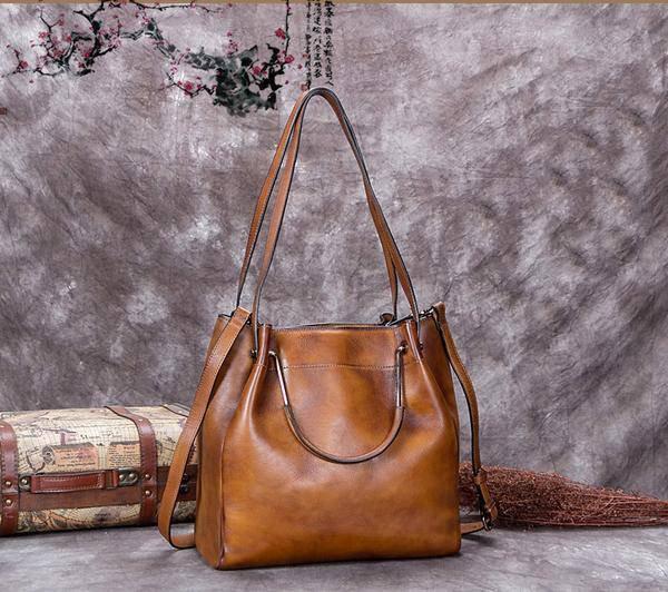 Sale, Full Grain Leather Handbag, Women Designer Shoulder Bag image 4
