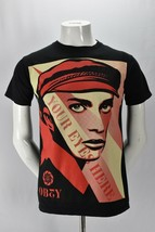Obey Propaganda Your Eyes Here Graphic Print Mens T Shirt Black Cotton Small - $21.73