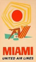 """United Airlines """"Miami"""" Magnet. - $7.95"""