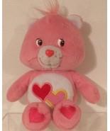 CARE BEARS-2002 Love-A-Lot Bear Plush Animal-9 inches - $9.84