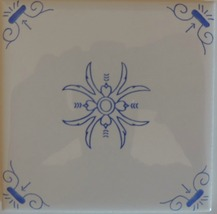 Blue and White Delft Style wall tiles Oxen  - $7.00