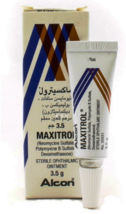1 Bottle Maxitrol Eye Ointment 3.5g Free Shipping WORLDWIDE - $17.80