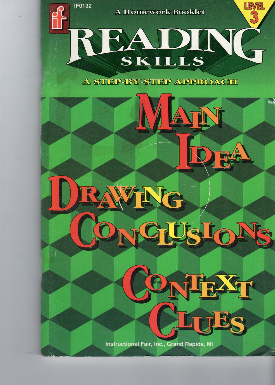 Primary image for Reading Skill Level 3 Main Idea, Drawing Conclusions & Context Clues