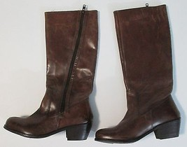 MIA Knee Calf Height Riding Boots Brown Scuffed Distressed Look Size 6 $... - $29.65