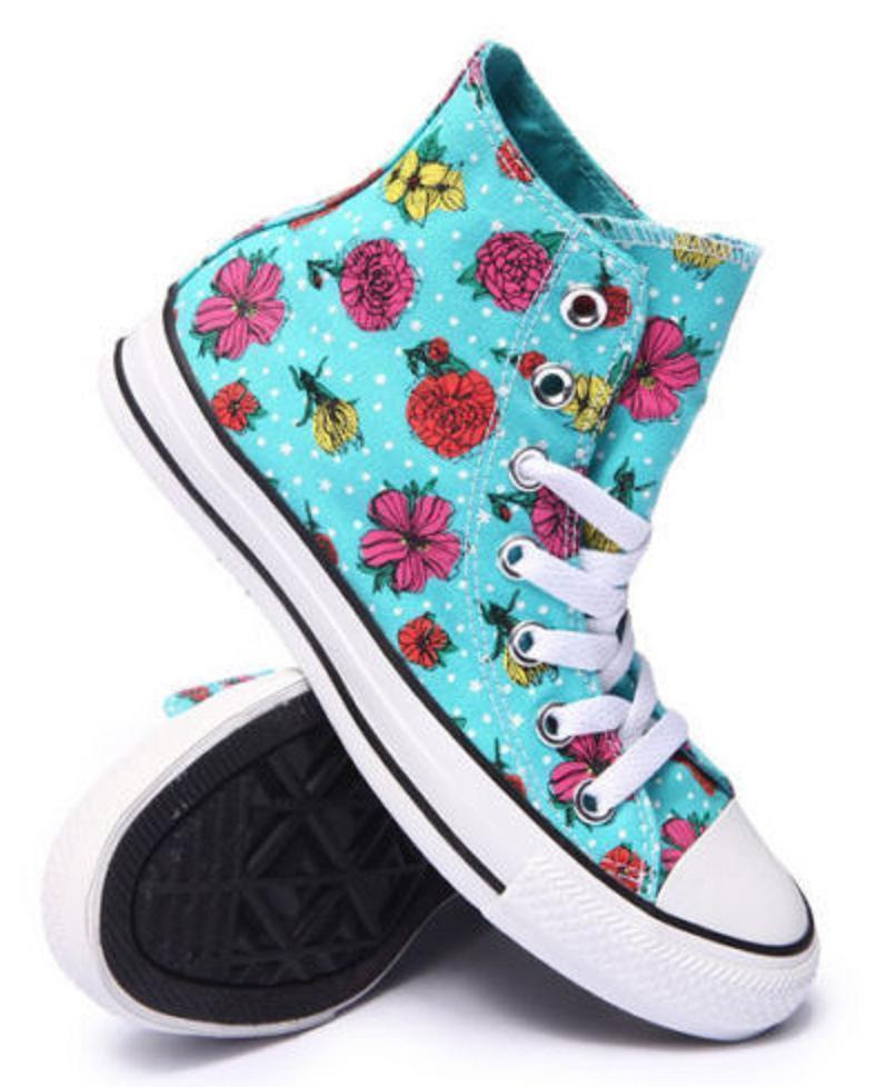 Primary image for New Converse Chuck Taylor All Star High-Top Floral Sneakers Women 7.5 11 Peacock