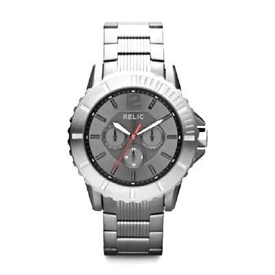 relic mens watch gunmetal chronograph round and 50 similar items