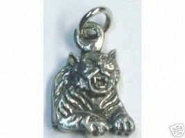 SALE 0535 Tiger Pendant Charm Silver Gothic Celtic Jewelry - $17.20