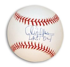 "Autographed Cleon Jones MLB Baseball Inscribed ""Last Out"" to Commemorate... - $67.27"