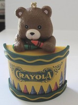 1992 Binney Smith Crayola Crayons Bear on Drum Christmas Tree Ornament - $4.50