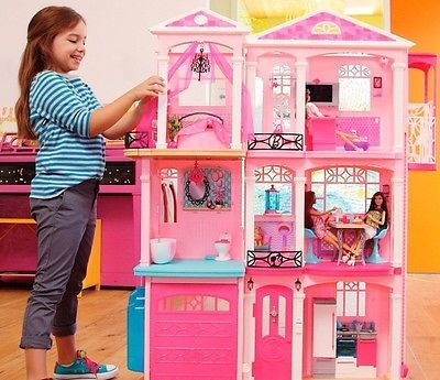Barbie Dream House Doll Elevator Furniture Accessories Play Set 3 Story New 2015