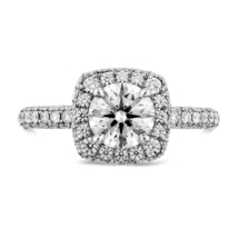 Excellent Cut White Diamond Solitaire With Accents Ring 14K White Gold P... - £53.35 GBP