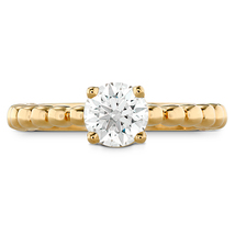 14K Yellow Gold Plated Round White Lab-Created Diamond Solitaire Engagem... - £35.65 GBP