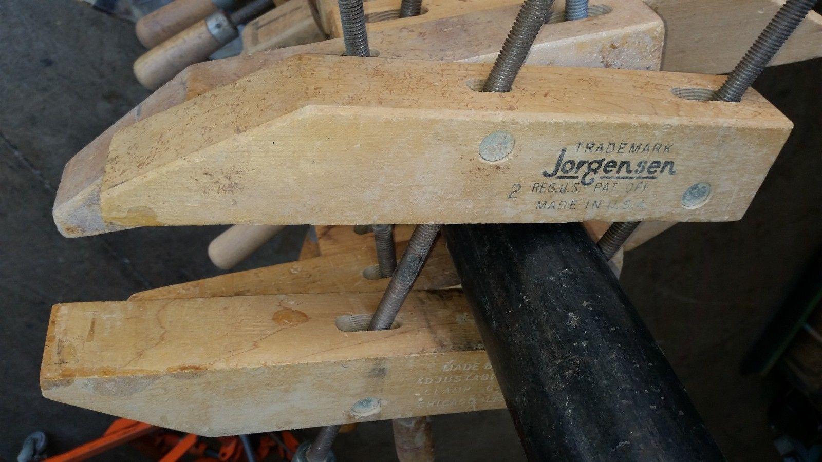 """ONE Vintage Jorgensen 12"""" Wood Wooden Furniture Clamp"""