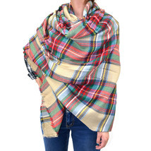 "60"" Large Square Plaids & Checks Tartan Scarf Shawl Wrap Blanket Cozy - $13.49"