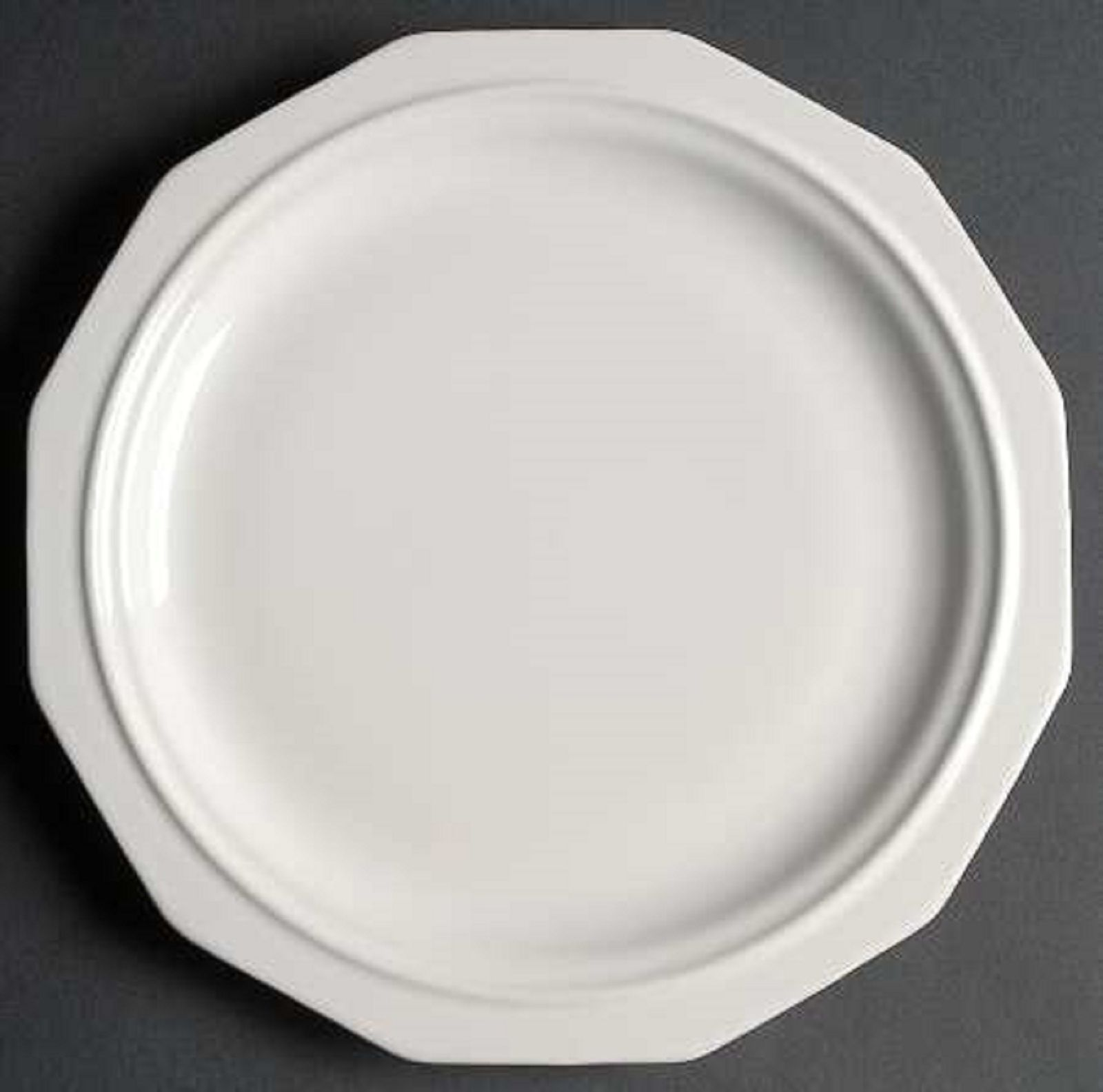 12 USA Pfaltzgraff Heritage White 12 Sided 10 1/8  DINNER PLATES 1963+ & 12 USA Pfaltzgraff Heritage White 12 Sided and 10 similar items