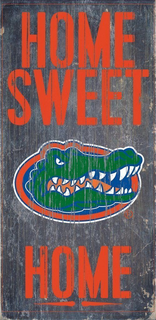 "FLORIDA GATORS HOME SWEET HOME WOOD SIGN and ROPE 12"" X 6""  NCAA MAN CAVE!"