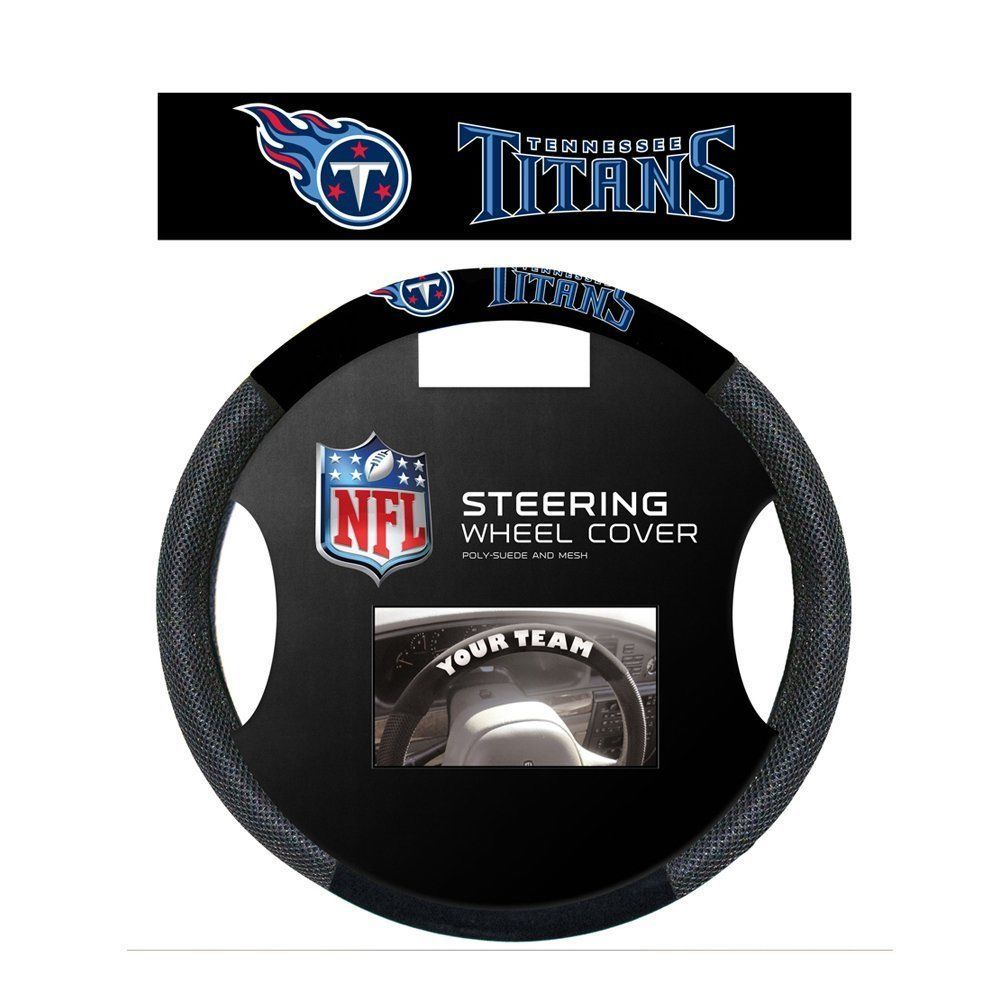 TENNESSEE TITANS SUEDE MESH CAR STEERING WHEEL COVER NFL FOOTBALL