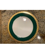Royal Gallery Gold Buffet Egg Green Salad Plate Federated Department Store - $20.00