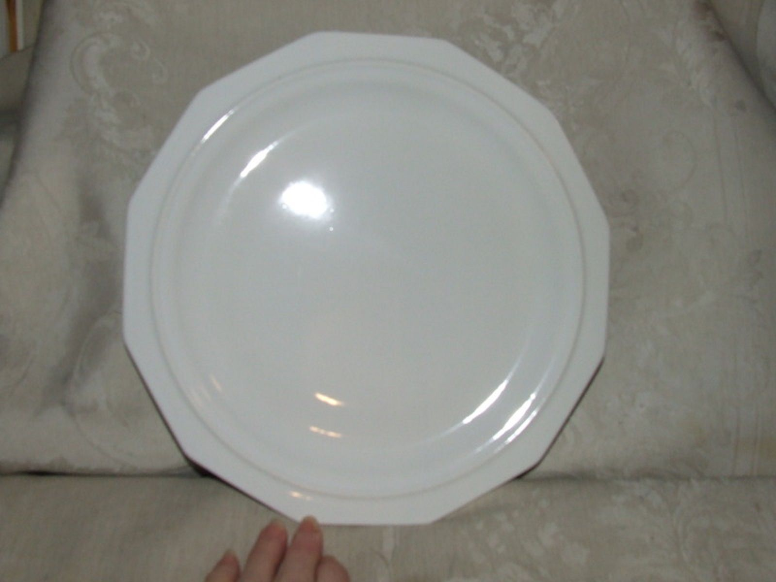 ... 12 USA Pfaltzgraff Heritage White 12 Sided 10 1/8\  DINNER PLATES ... & 12 USA Pfaltzgraff Heritage White 12 Sided and similar items