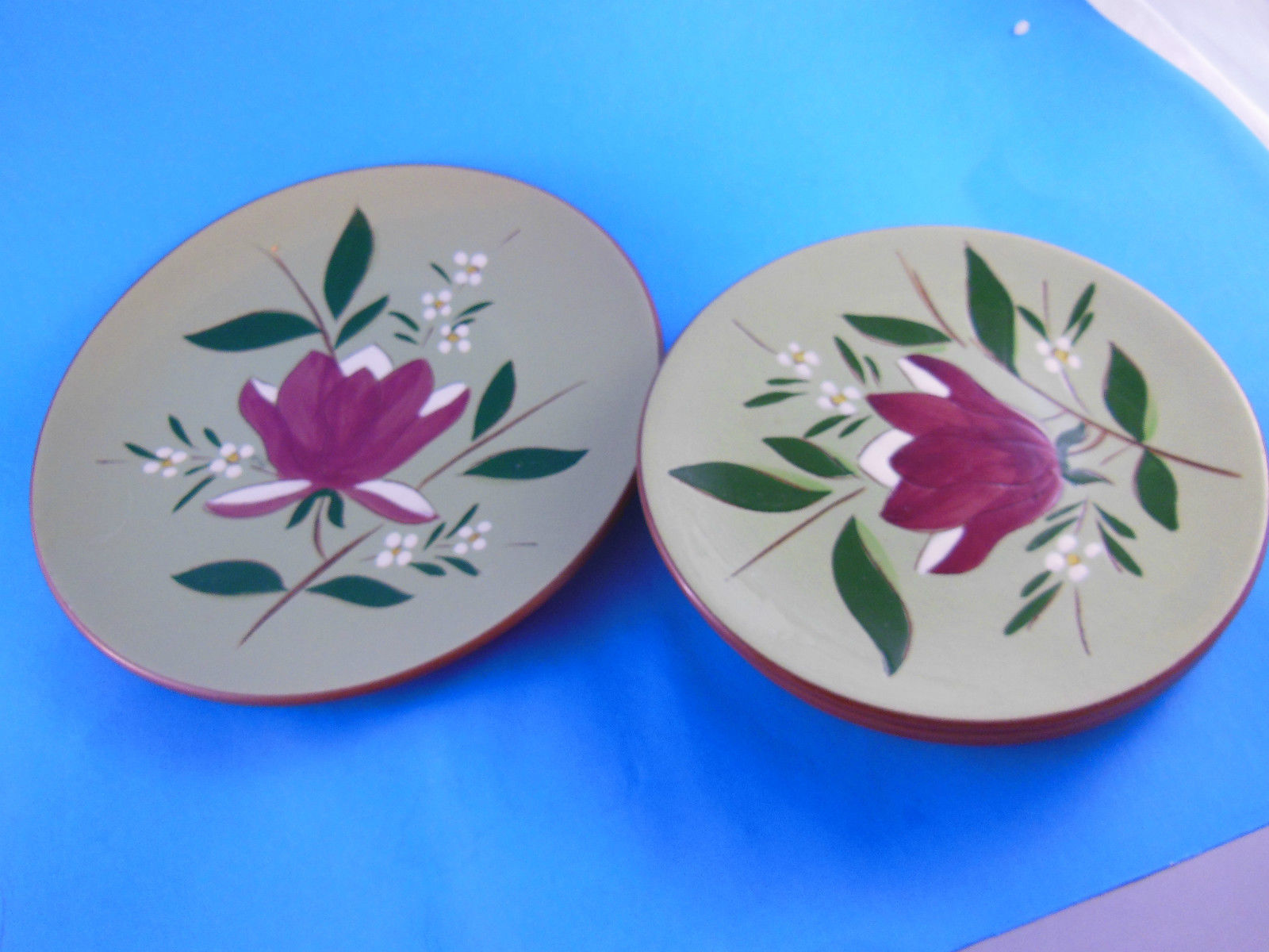 4 Vintage Stangl Pottery Magnolia 4 Plates 1 one 8\  and 3 three 6\  - $11.87 & Stangl Pottery Plates: 3 listings