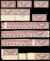 C12, Mint NH 5c Airmail lot of 39 stamps - F-VF - Cat $702.00 - Stuart Katz - $225.15