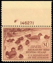 RW8, Mint VF NH DUCK stamp - Well centered With PL# Cat $275.00 - $175.00
