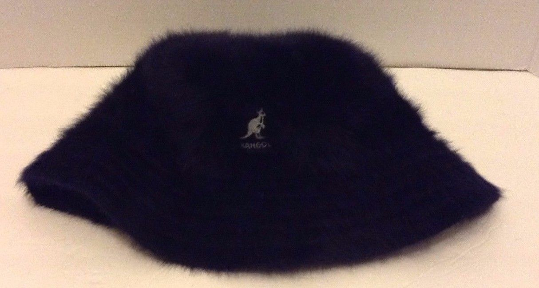 4672a219 Men's Kangol Navy Blue Furgora Bucket Hat Cap Angora Blend (Size: Medium)